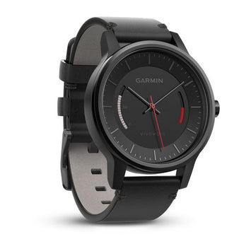 Garmin vívomove® Classic, Black with Leather Band (Newly Overhauled)