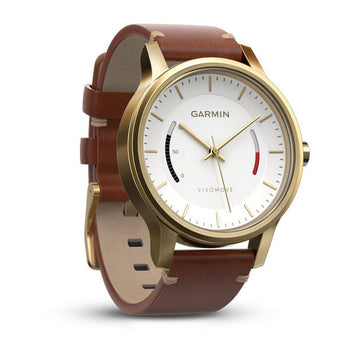 GRAMIN vívomove® Premium,Gold-Tone SteelWith Leather Band (NEWLY OVERHAULED)
