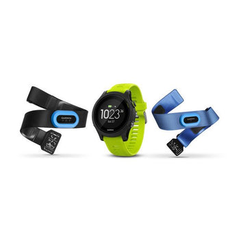 Garmin Forerunner® 935 Tri-bundle (Black with Yellow Straps) (Newly Overhauled)