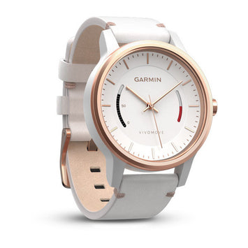 Garmin vívomove® Classic,White with Leather Band (Newly Overhauled)