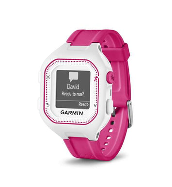 Garmin Forerunner® 25 Pink & White, Watch only (Newly Overhauled)
