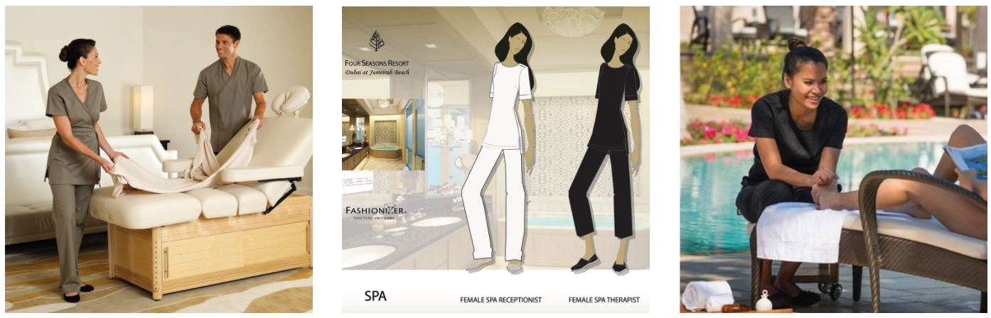 Four Seasons Resorts & Spas Fashionizer Spa Uniforms