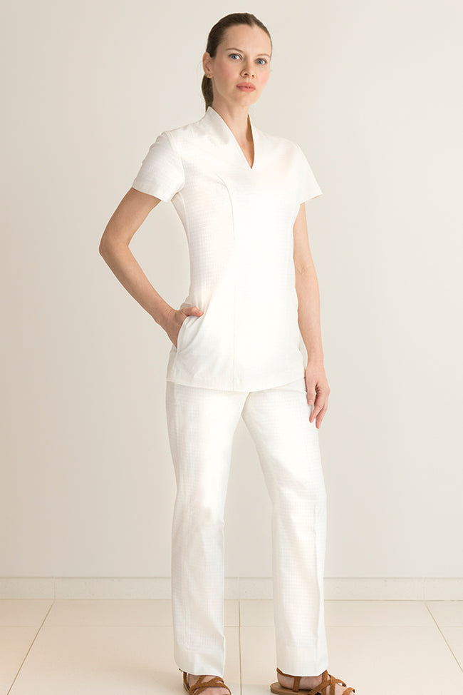 Aria Spa Trouser White - Fashionizer Spa