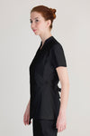 female black wrap spa uniform