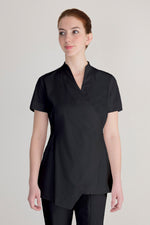 Black wrap spa tunic