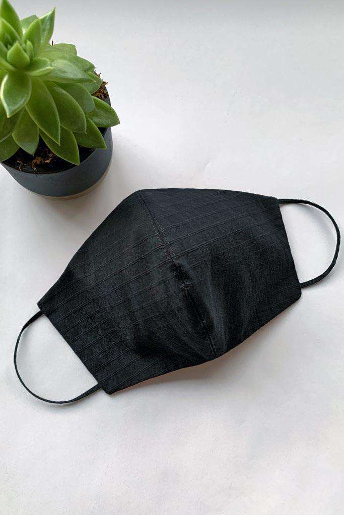 Black cotton face covering