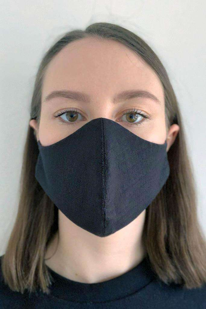Womens Black Cotton Face Mask