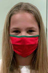 Childrens red Christmas face mask