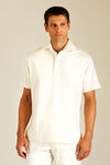 Male cream tunic for spa therapist