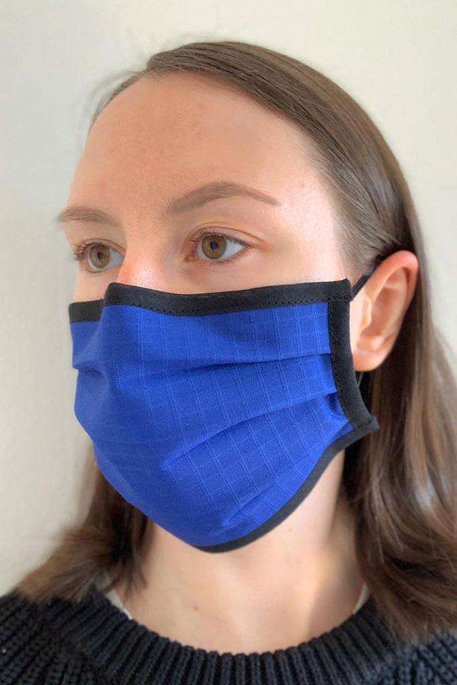 Royal Blue Pleated Wellness Face Mask - Fashionizer Spa