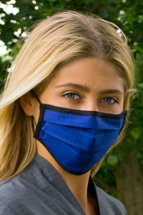 Blue Cotton Face Mask