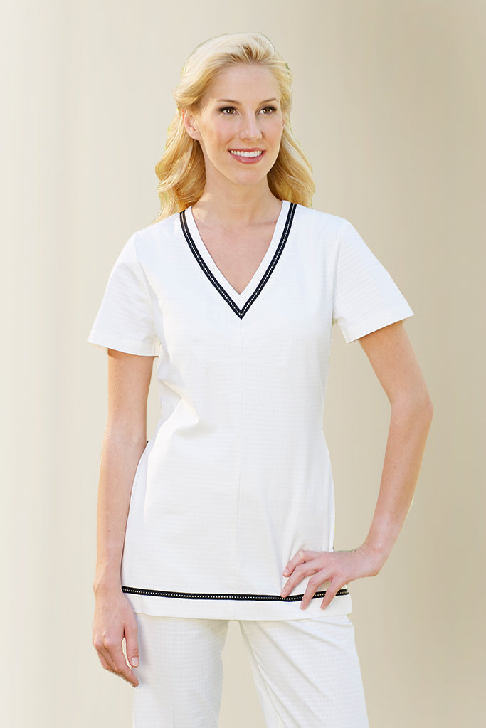 Cream Womens Spa Tunic - Fashionizer Spa