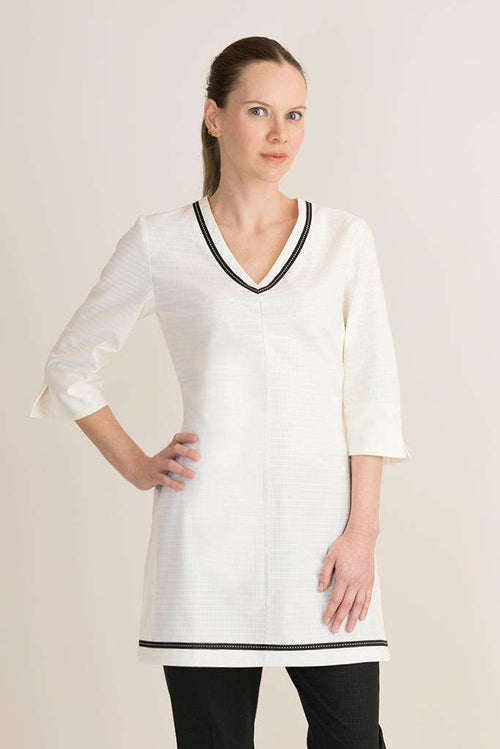 Zeta 3/4 Sleeve Spa Tunic Cream - Fashionizer Spa