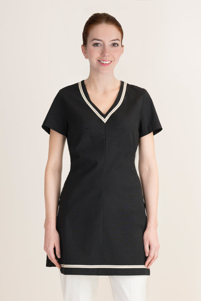 black tunic for aesthetician