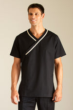spa male black tunic