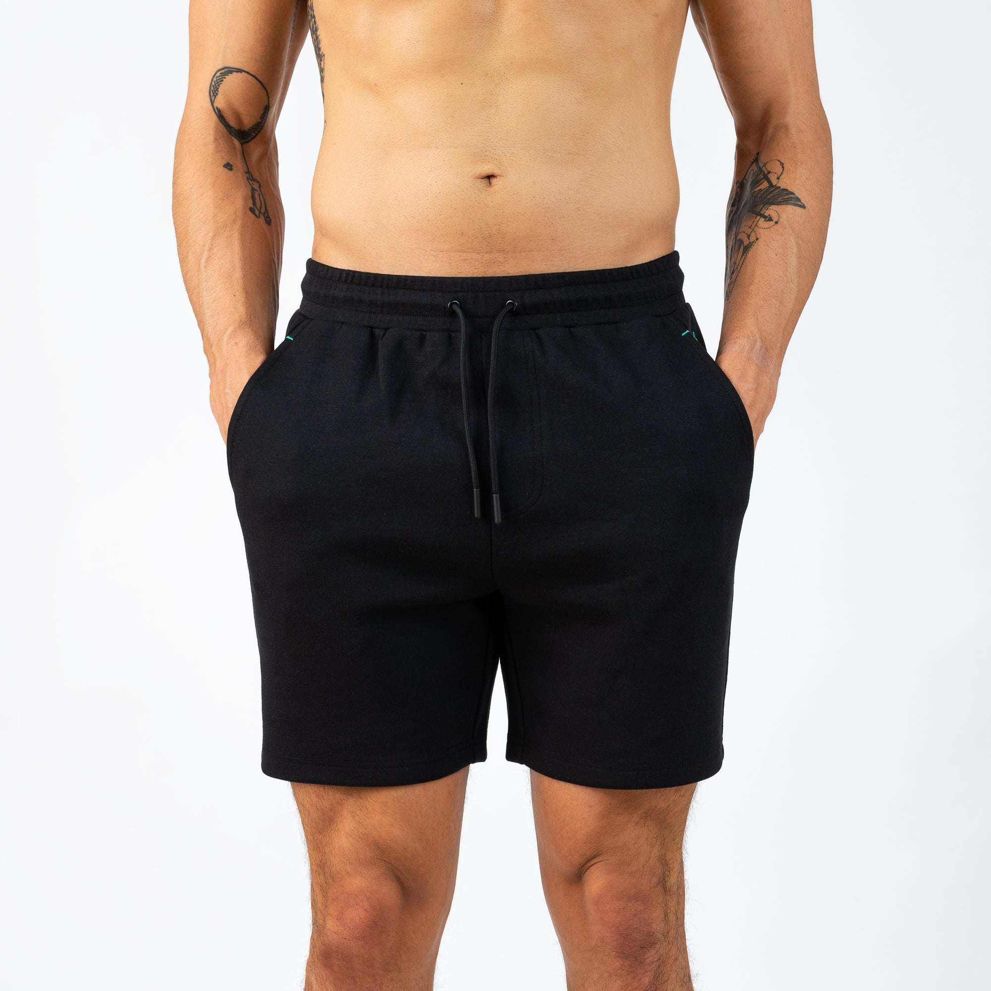 Active Loungewear Knitted Shorts - Black