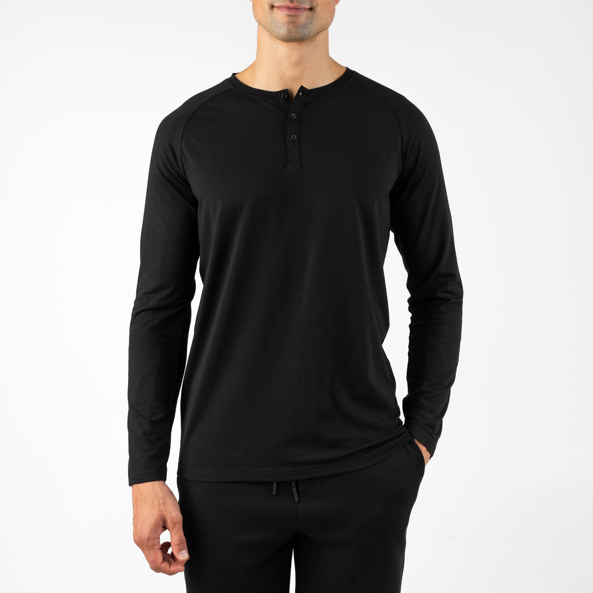 Henley Sleepwear - Black