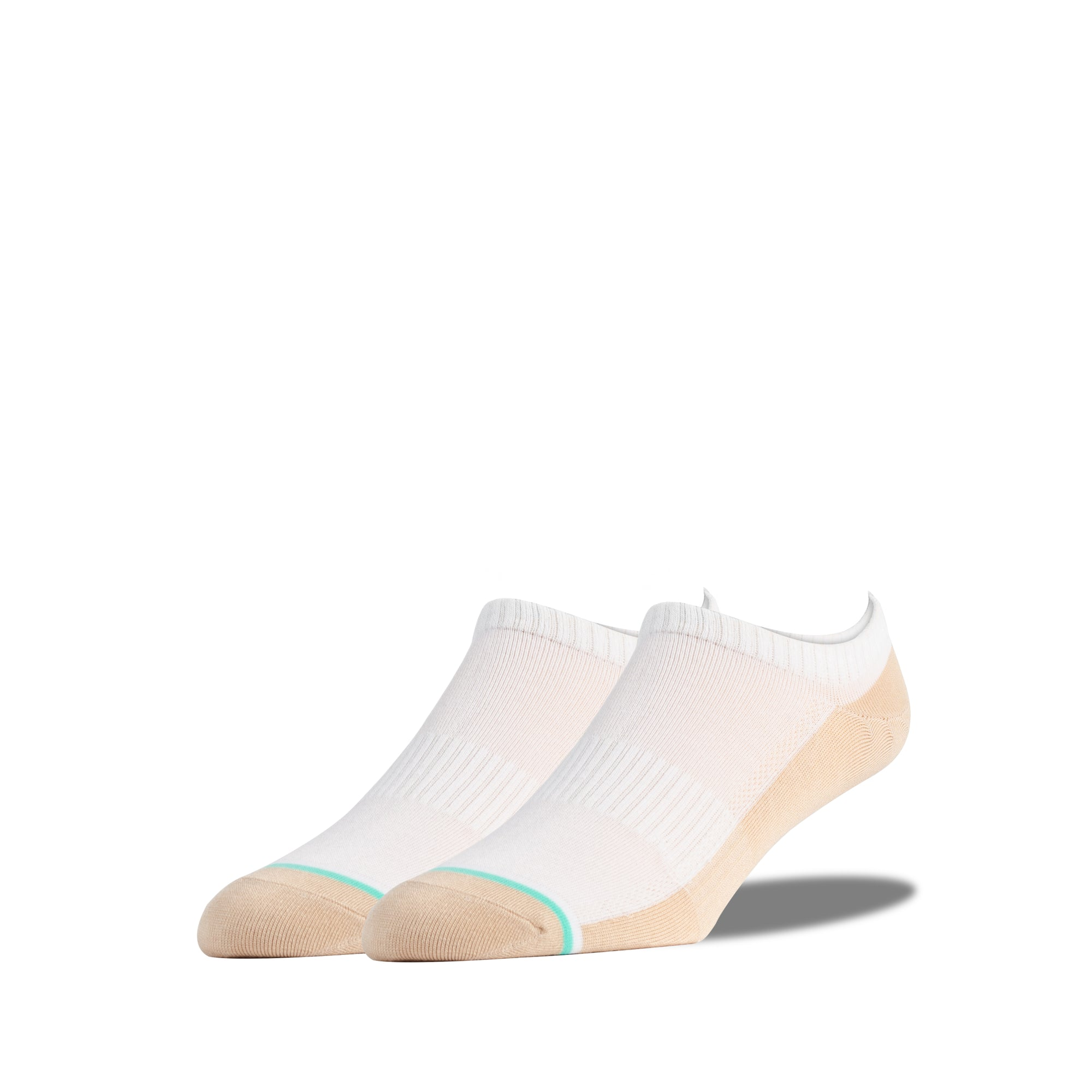 White and Nude Low Cut Socks