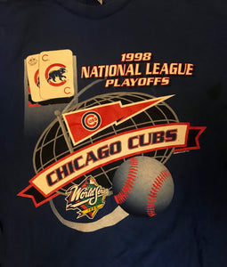 1998 Chicago Cubs Playoffs Tee (Large)-Locker Room Clt