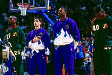Load image into Gallery viewer, 1996/97 Utah Jazz Pro Cut Team Issued Warm Up Pants by Champion-Locker Room Clt