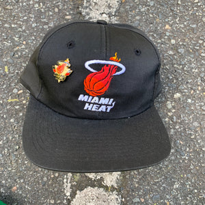 90's Miami Heat Vintage NBA Snapback Hat (Pin Included)-Locker Room Clt
