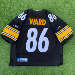2000's Hines Ward Pittsburgh Steelers Authentic Jersey by Reebok (XXL)-Locker Room Clt