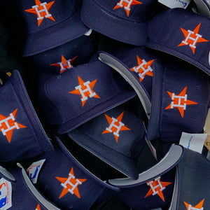 80's/90's Houston Astros Wool Grey Brim Sports Specialties Fitted Hats-Locker Room Clt