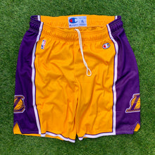 Load image into Gallery viewer, 2009/2010 Los Angeles Lakers Euro Release NBA Shorts by Champion-Locker Room Clt