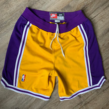 Load image into Gallery viewer, 90's Los Angeles Lakers Authentic NBA Shorts by Nike-Locker Room Clt