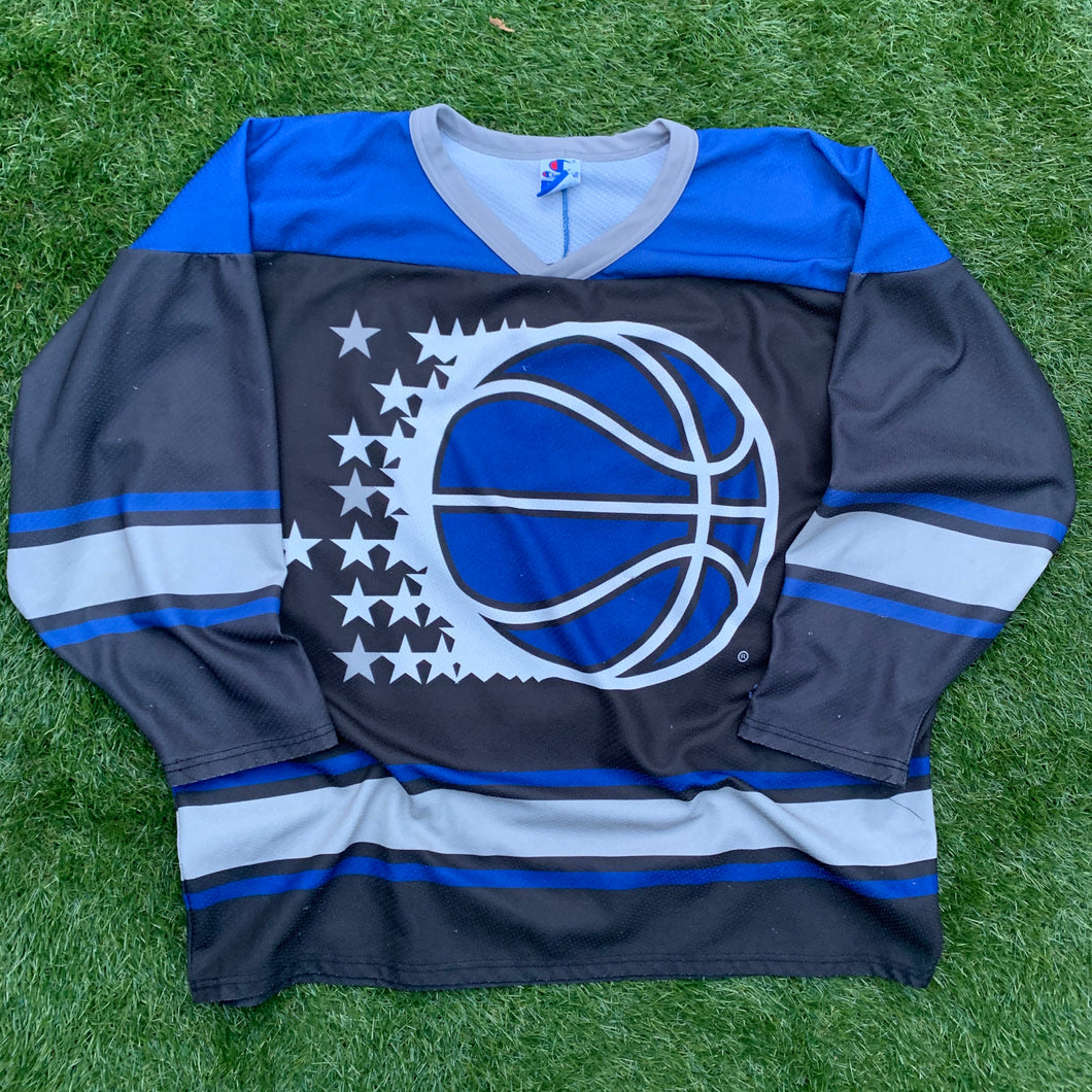 90's Orlando Magic Big Logo Vintage Hockey Jersey by Champion-Locker Room Clt