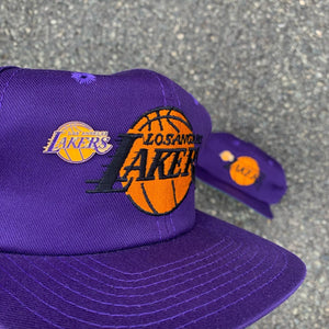 Los Angeles Lakers Snapback Hat (Pin Included) - Brand New-Locker Room Clt