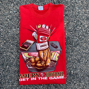 90's San Francisco 49ers Big Graphic Vintage NFL Tee-Locker Room Clt