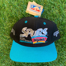 Load image into Gallery viewer, 90's San Antonio Spurs Vintage NBA Snapback Hat-Locker Room Clt
