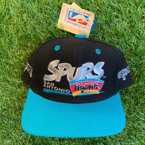 90's San Antonio Spurs Vintage NBA Snapback Hat-Locker Room Clt