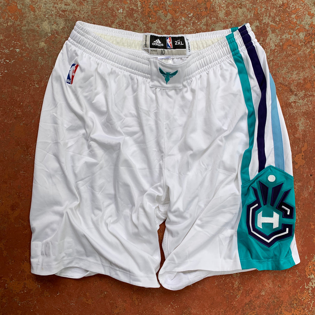 2015/16 Charlotte Hornets Home Pro Cut/Team Issued NBA Shorts-Locker Room Clt