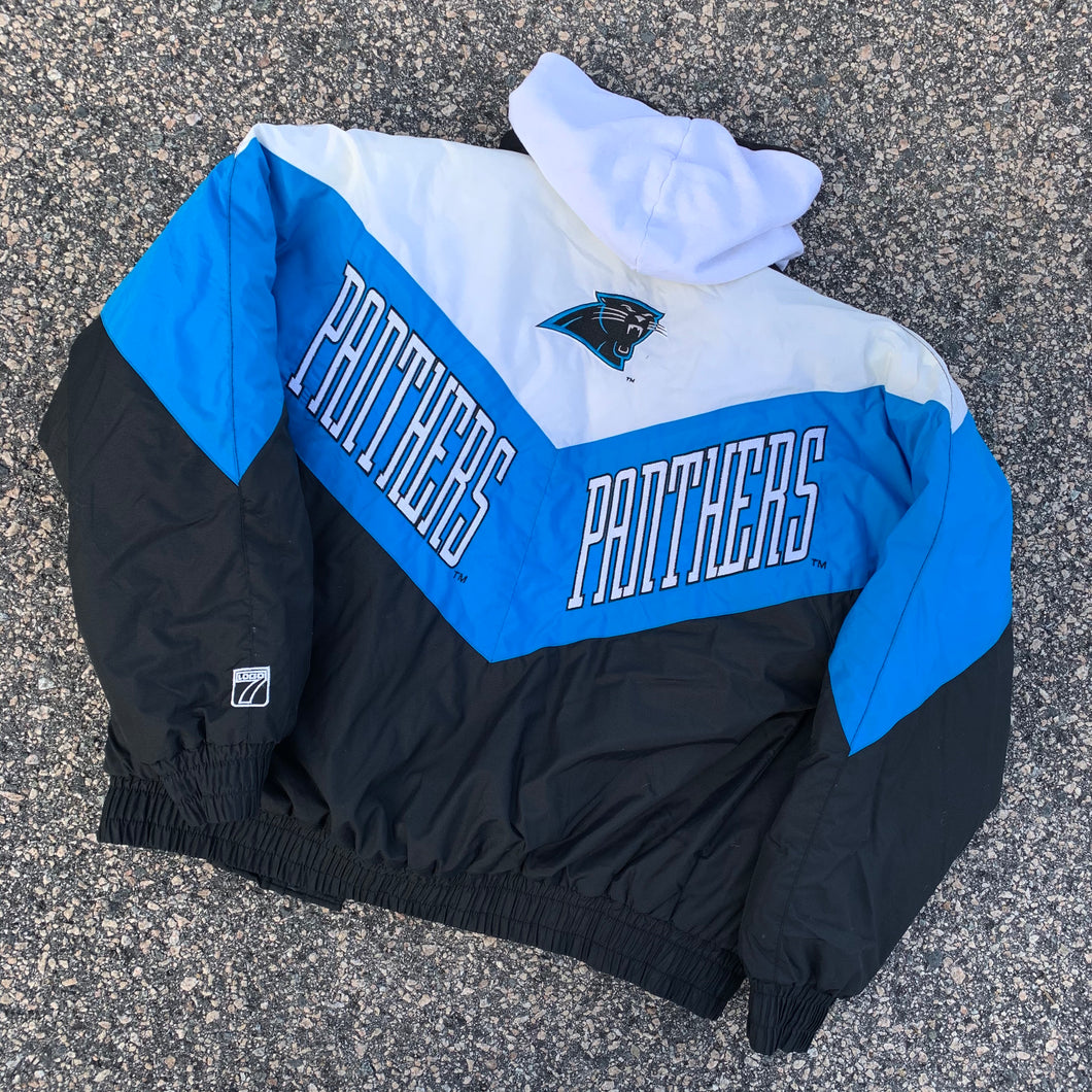 90's Carolina Panthers Vintage Jacket by Logo 7 (Large)-Locker Room Clt