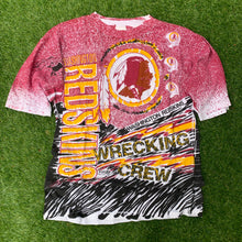 Load image into Gallery viewer, 90's Washington Redskins All Over Print by Magic Johnson Tees (Brand New)-Locker Room Clt