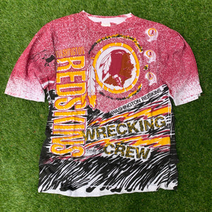 90's Washington Redskins All Over Print by Magic Johnson Tees (Brand New)-Locker Room Clt