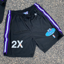 Load image into Gallery viewer, 1997/98 Charlotte Hornets Vintage Team Issued Sample Shorts by Starter-Locker Room Clt