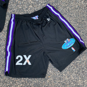 1997/98 Charlotte Hornets Vintage Team Issued Sample Shorts by Starter-Locker Room Clt
