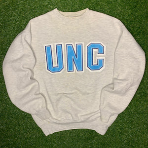 90's UNC North Carolina Tarheels Vintage College Crewneck (Large)-Locker Room Clt