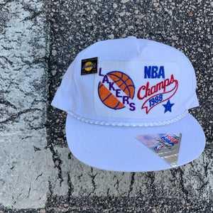 1988 Los Angeles Lakers NBA Finals Champions Snapback Hat - Brand New-Locker Room Clt