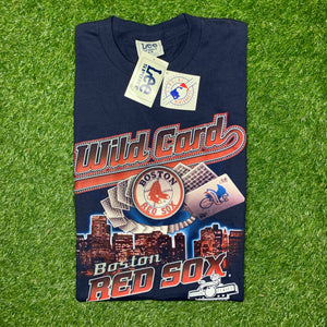 1999 Boston Red Sox Wild Card MLB Tee - Brand New (XL)-Locker Room Clt
