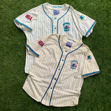 Load image into Gallery viewer, 90's Charlotte Hornets Pinstriped Baseball Jersey by Starter-Locker Room Clt