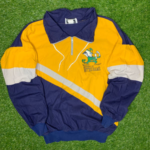 80's Notre Dame Fighting Irish Vintage College Pullover (Large)-Locker Room Clt