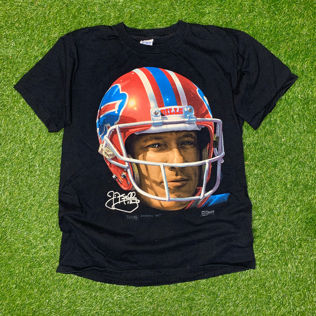90's Jim Kelly Buffalo Bills Big Face Vintage Tee (Large)-Locker Room Clt