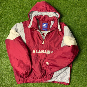 90's Alabama Crimson Tide Half Zip Puffer by Stater (XL)-Locker Room Clt
