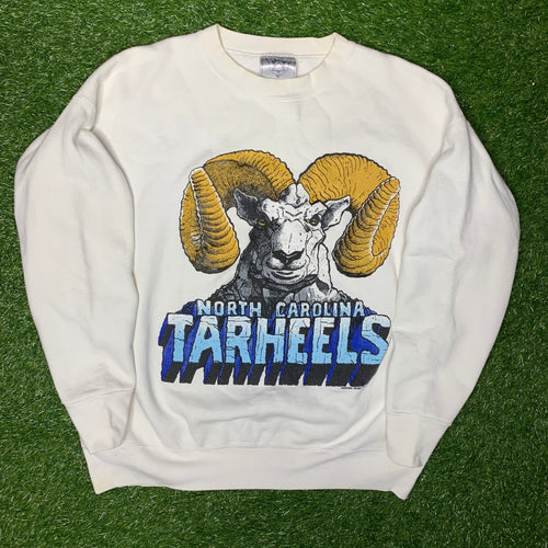 1990 UNC North Carolina Tar heels Big Ram Vintage Crewneck (XL)-Locker Room Clt
