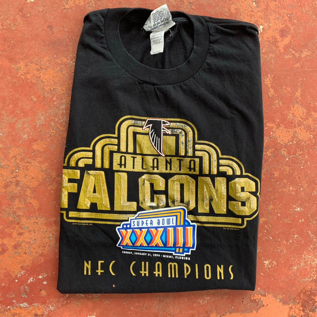 1999 Atlanta Falcons Super Bowl XXXIII Tee-Locker Room Clt