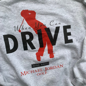 90's Michael Jordan Golf Why Fly Big Logo Crewneck by Nike-Locker Room Clt